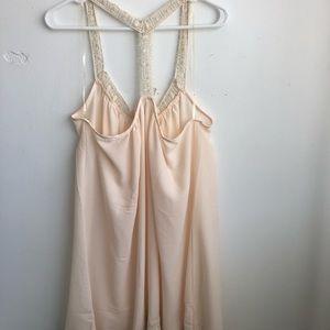 Dresses & Skirts - Green pea white dress